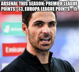 Arsenal this season memes