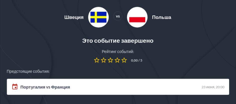Прогнозы на матч Швеция - Польша